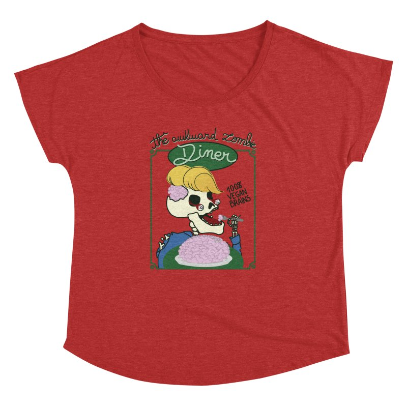 The Awkward Zombie Diner Women's Dolman Scoop Neck by Hello Siyi