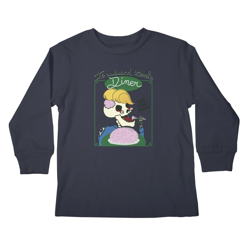 The Awkward Zombie Diner Kids Longsleeve T-Shirt by Hello Siyi