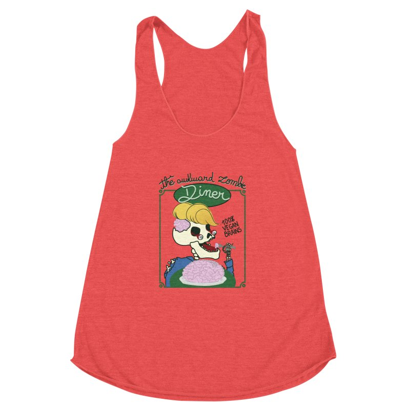 The Awkward Zombie Diner Women's Racerback Triblend Tank by Hello Siyi