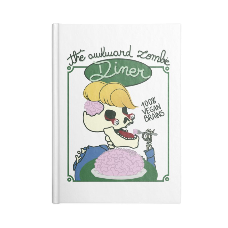 The Awkward Zombie Diner Accessories Blank Journal Notebook by Hello Siyi
