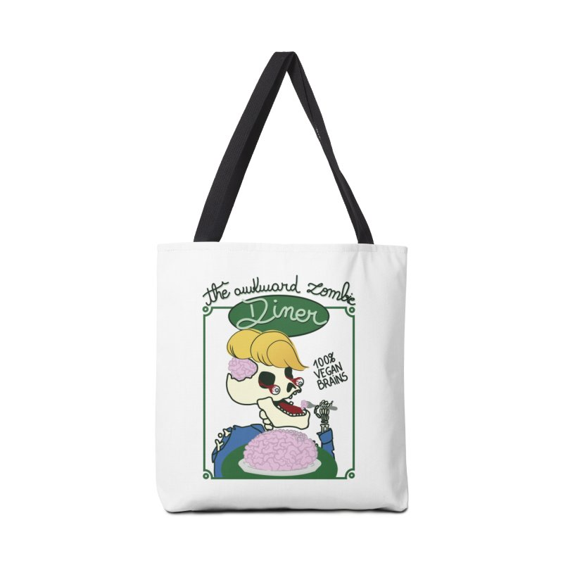 The Awkward Zombie Diner Accessories Tote Bag Bag by Hello Siyi