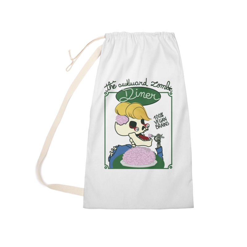 The Awkward Zombie Diner Accessories Laundry Bag Bag by Hello Siyi