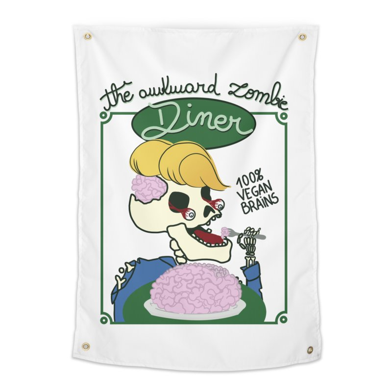 The Awkward Zombie Diner Home Tapestry by Hello Siyi