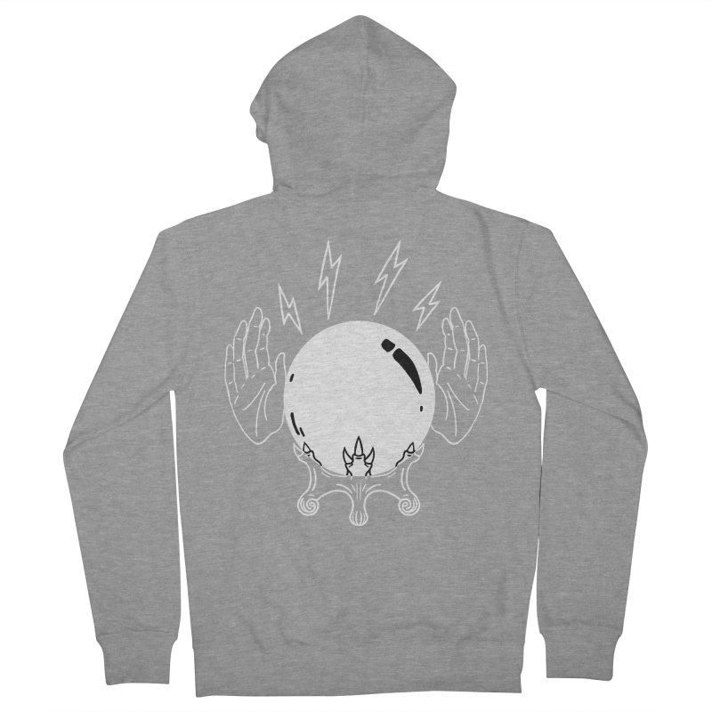 Crystal Ball Men's French Terry Zip-Up Hoody by Hello Siyi
