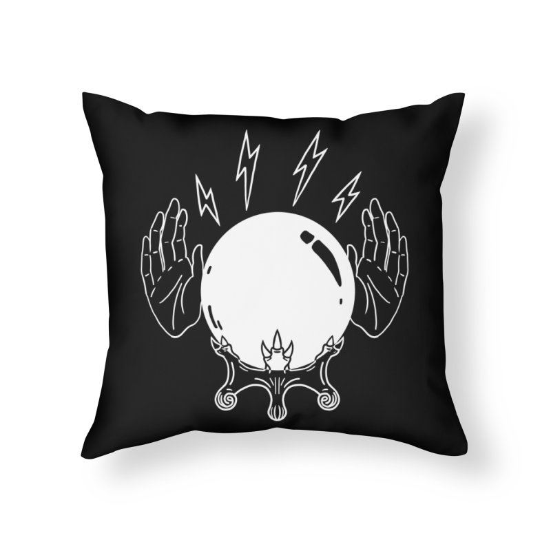 Crystal Ball Home Throw Pillow by Hello Siyi