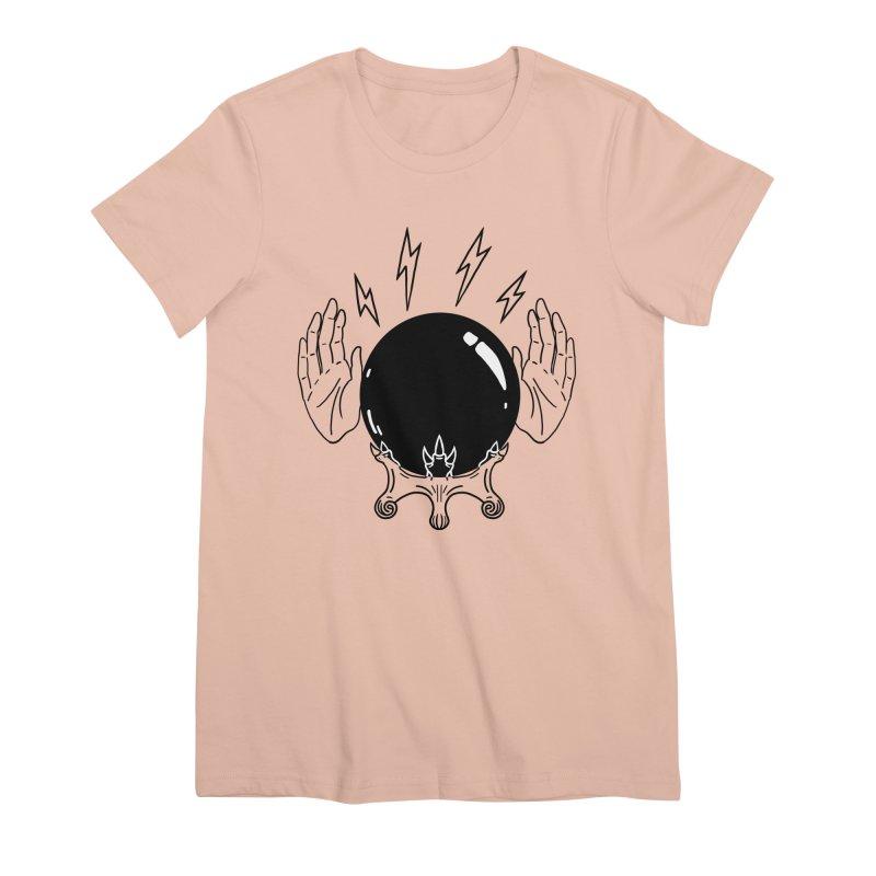 Crystal Ball (on white) Women's Premium T-Shirt by Hello Siyi