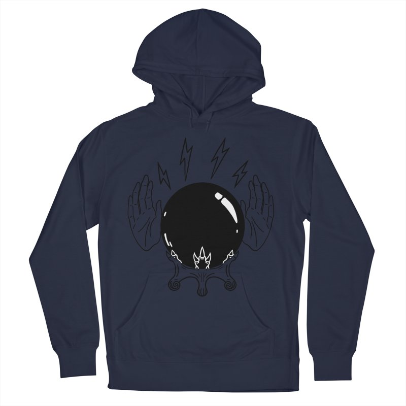 Crystal Ball (on white) Men's French Terry Pullover Hoody by Hello Siyi
