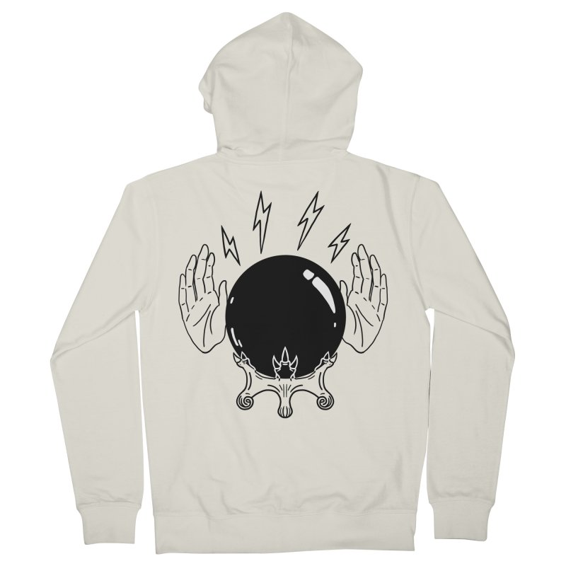 Crystal Ball (on white) Men's French Terry Zip-Up Hoody by Hello Siyi