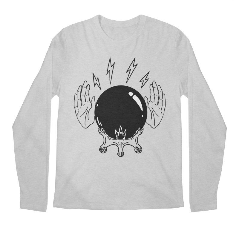 Crystal Ball (on white) Men's Regular Longsleeve T-Shirt by Hello Siyi