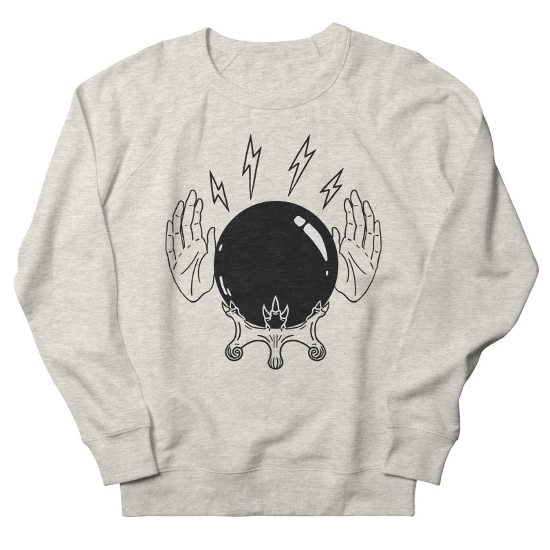 Crystal Ball (on white) Women's French Terry Sweatshirt by Hello Siyi