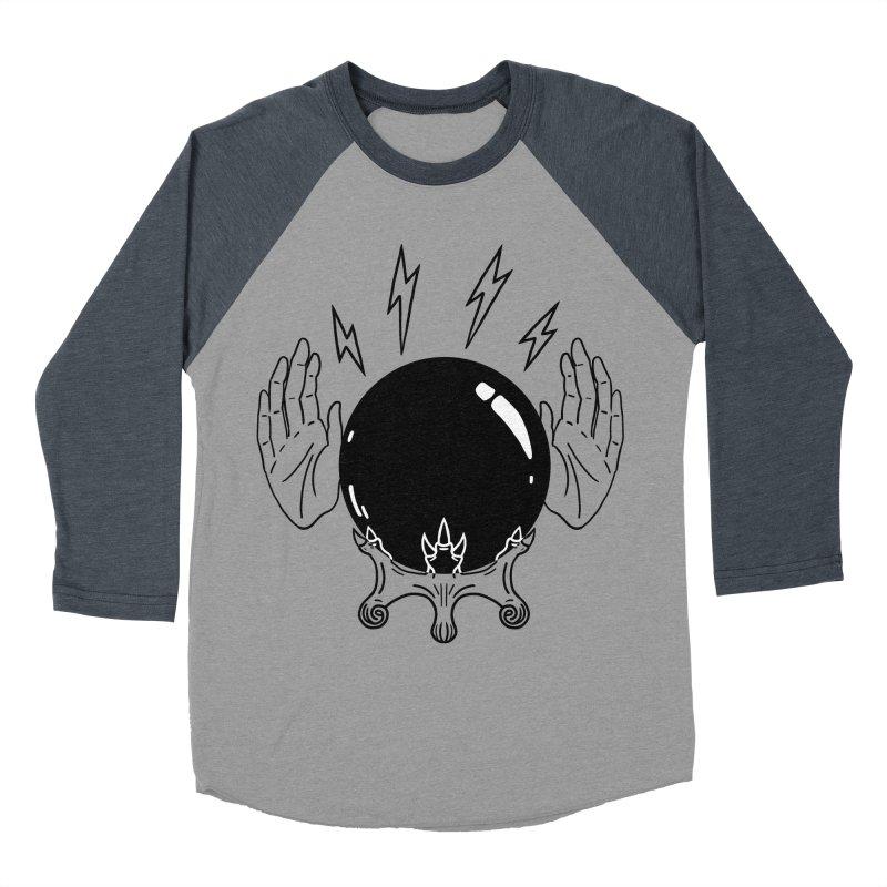 Crystal Ball (on white) Men's Baseball Triblend Longsleeve T-Shirt by Hello Siyi