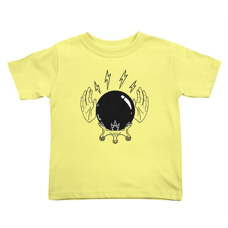 Crystal Ball (on white) Kids Toddler T-Shirt by Hello Siyi