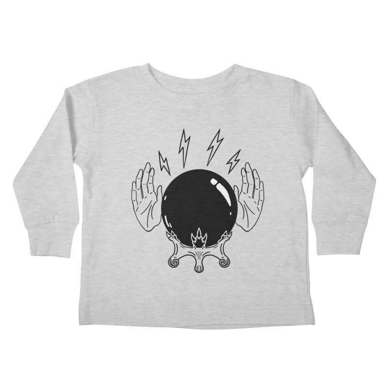 Crystal Ball (on white) Kids Toddler Longsleeve T-Shirt by Hello Siyi