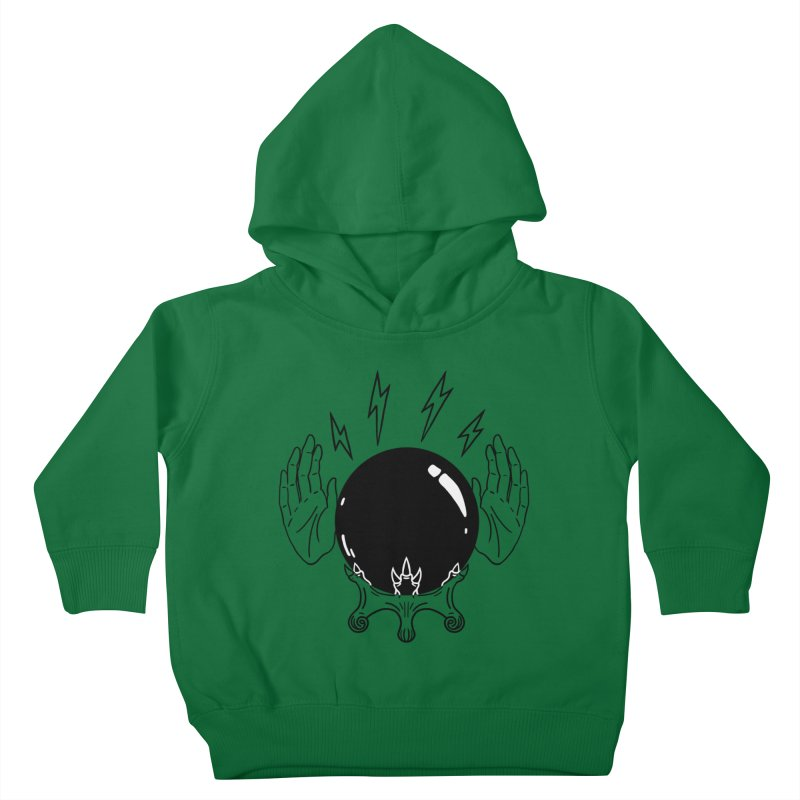 Crystal Ball (on white) Kids Toddler Pullover Hoody by Hello Siyi
