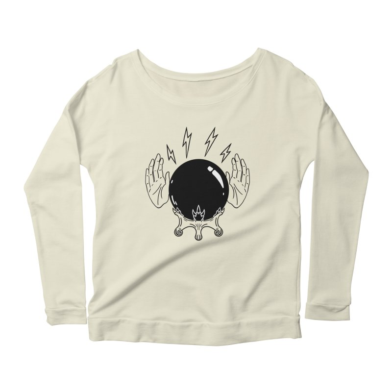 Crystal Ball (on white) Women's Scoop Neck Longsleeve T-Shirt by Hello Siyi