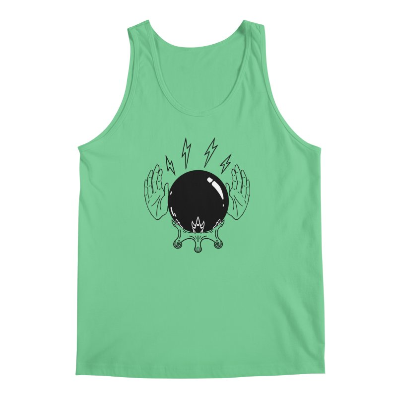 Crystal Ball (on white) Men's Regular Tank by Hello Siyi