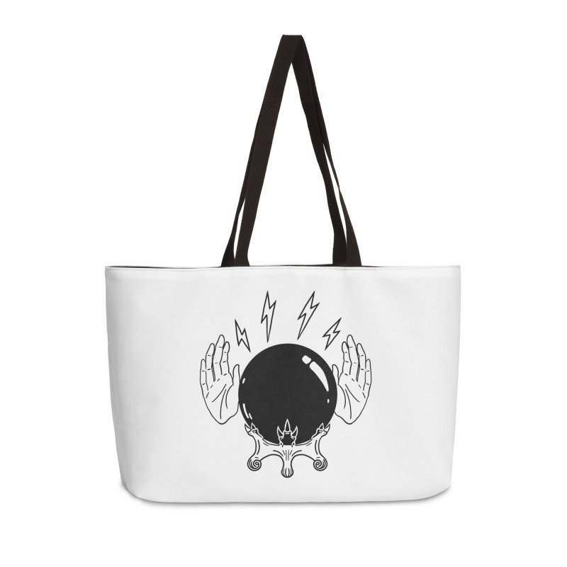 Crystal Ball (on white) Accessories Weekender Bag Bag by Hello Siyi