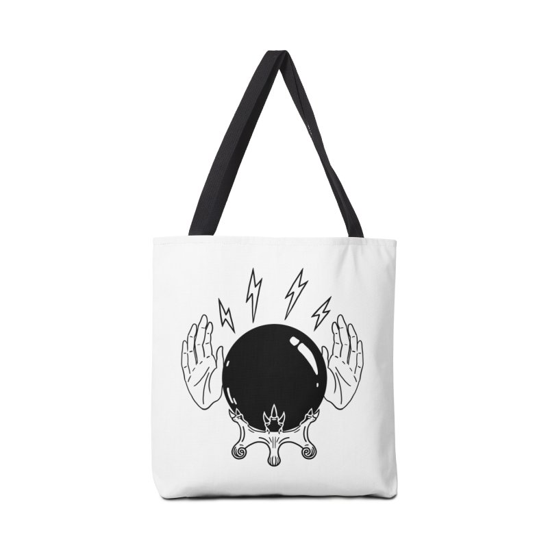Crystal Ball (on white) Accessories Tote Bag Bag by Hello Siyi