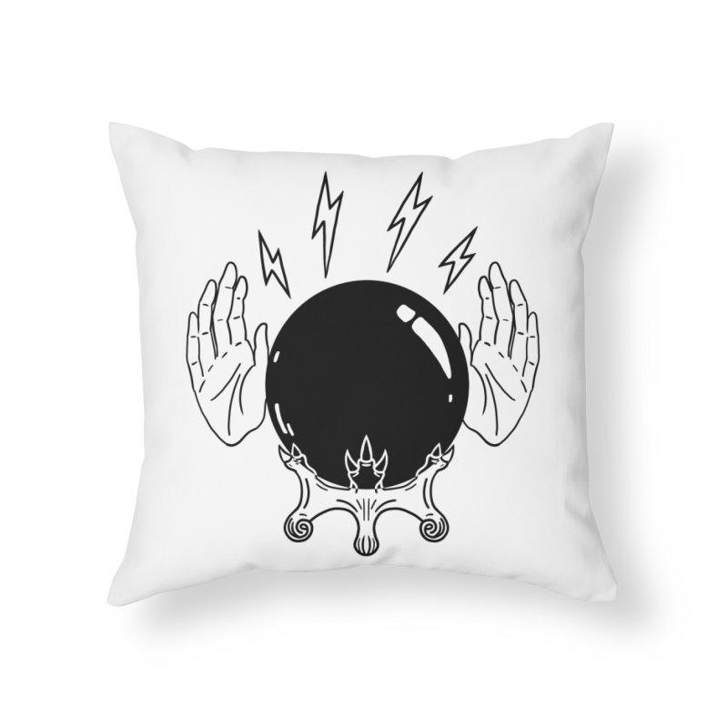 Crystal Ball (on white) Home Throw Pillow by Hello Siyi