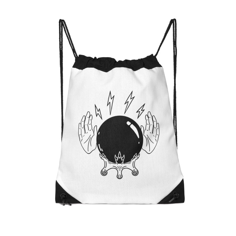 Crystal Ball (on white) Accessories Drawstring Bag Bag by Hello Siyi