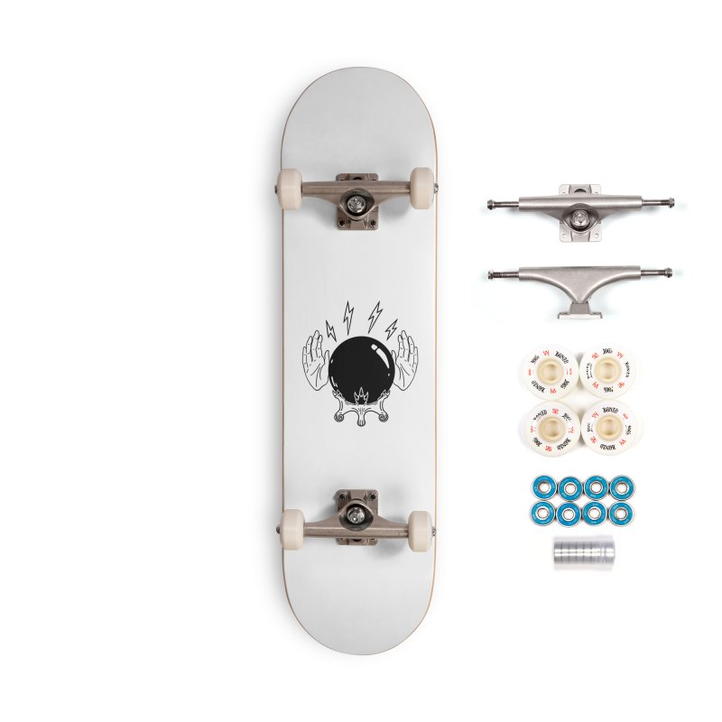 Crystal Ball (on white) Accessories Complete - Premium Skateboard by Hello Siyi