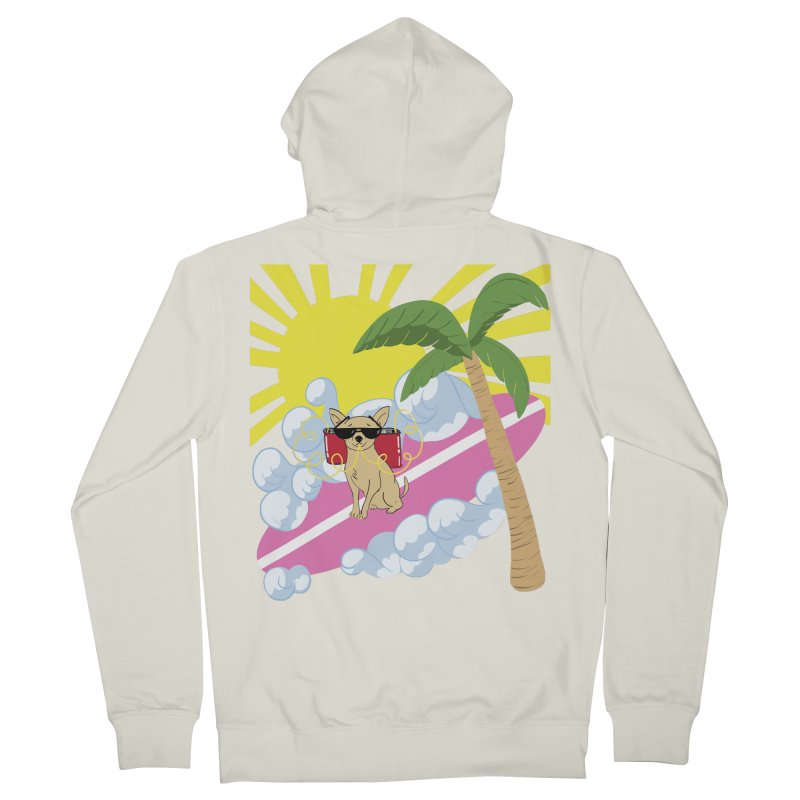 Chihuahua Summer Men's French Terry Zip-Up Hoody by Hello Siyi