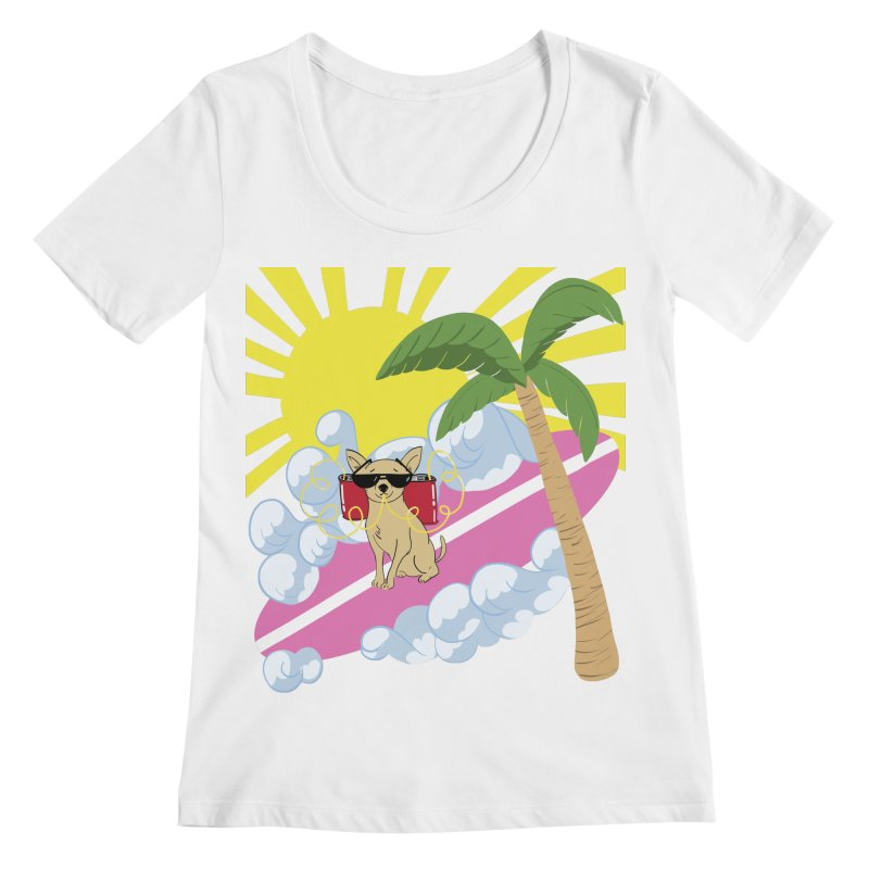 Chihuahua Summer Women's Regular Scoop Neck by Hello Siyi
