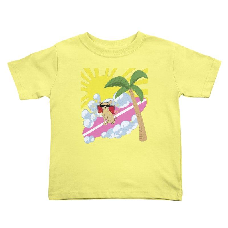 Chihuahua Summer Kids Toddler T-Shirt by Hello Siyi