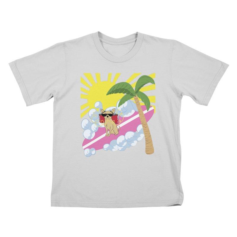 Chihuahua Summer Kids T-Shirt by Hello Siyi