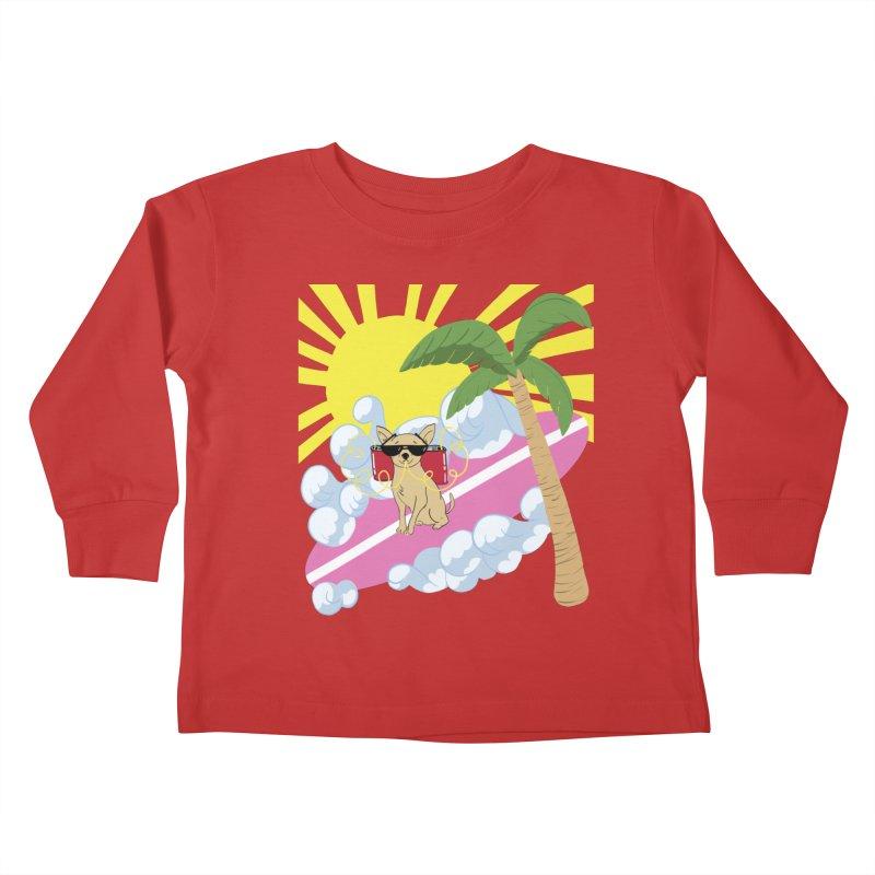 Chihuahua Summer Kids Toddler Longsleeve T-Shirt by Hello Siyi