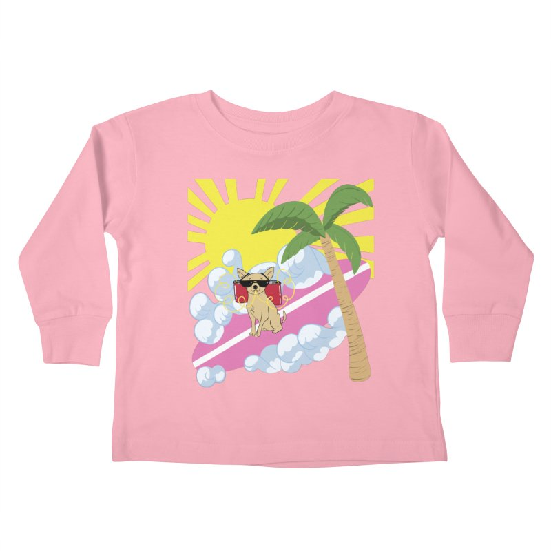 Chihuahua Summer Kids Toddler Longsleeve T-Shirt by Hello Siyi