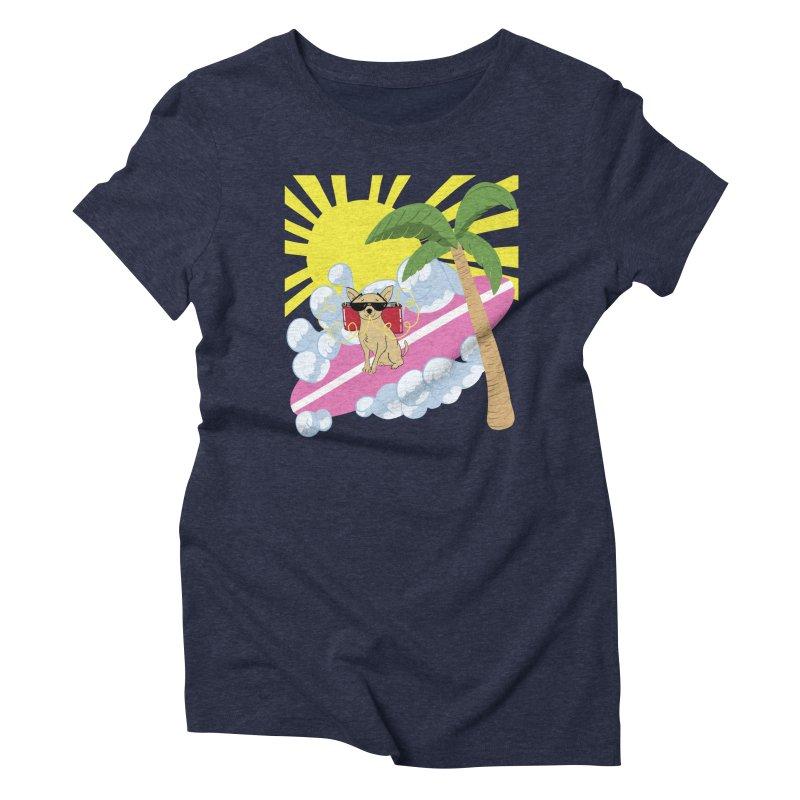 Chihuahua Summer Women's Triblend T-Shirt by Hello Siyi