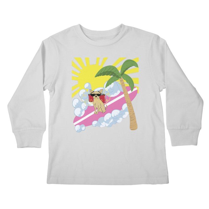 Chihuahua Summer Kids Longsleeve T-Shirt by Hello Siyi