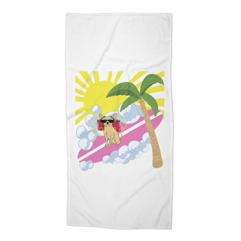 Chihuahua Summer Accessories Beach Towel by Hello Siyi