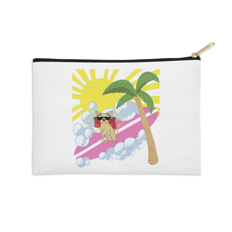 Chihuahua Summer Accessories Zip Pouch by Hello Siyi