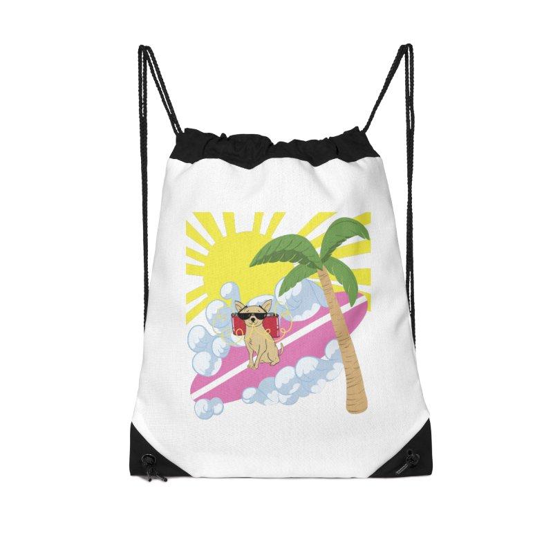 Chihuahua Summer Accessories Drawstring Bag Bag by Hello Siyi