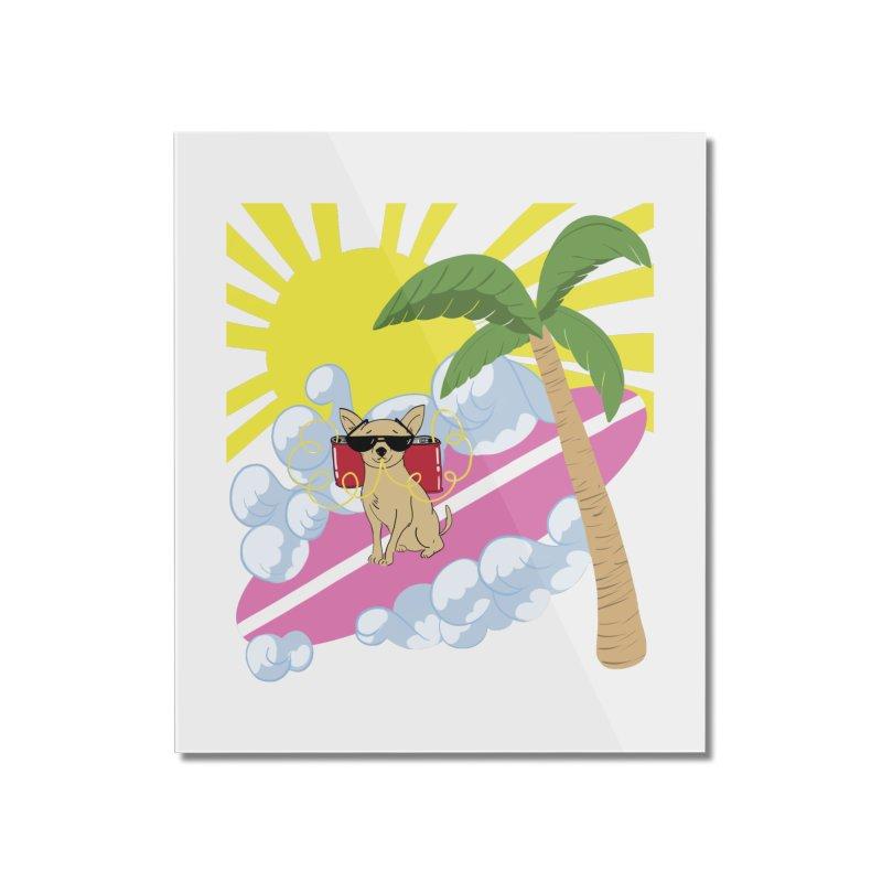 Chihuahua Summer Home Mounted Acrylic Print by Hello Siyi