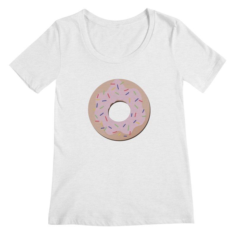 Donut Women's Regular Scoop Neck by Hello Siyi