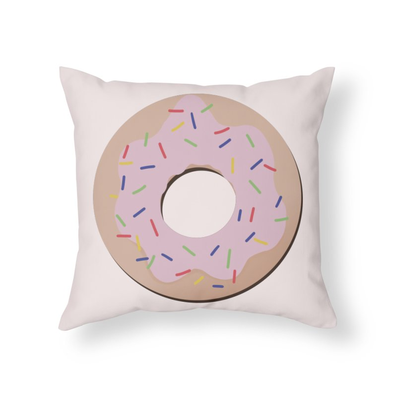 Donut Home Throw Pillow by Hello Siyi