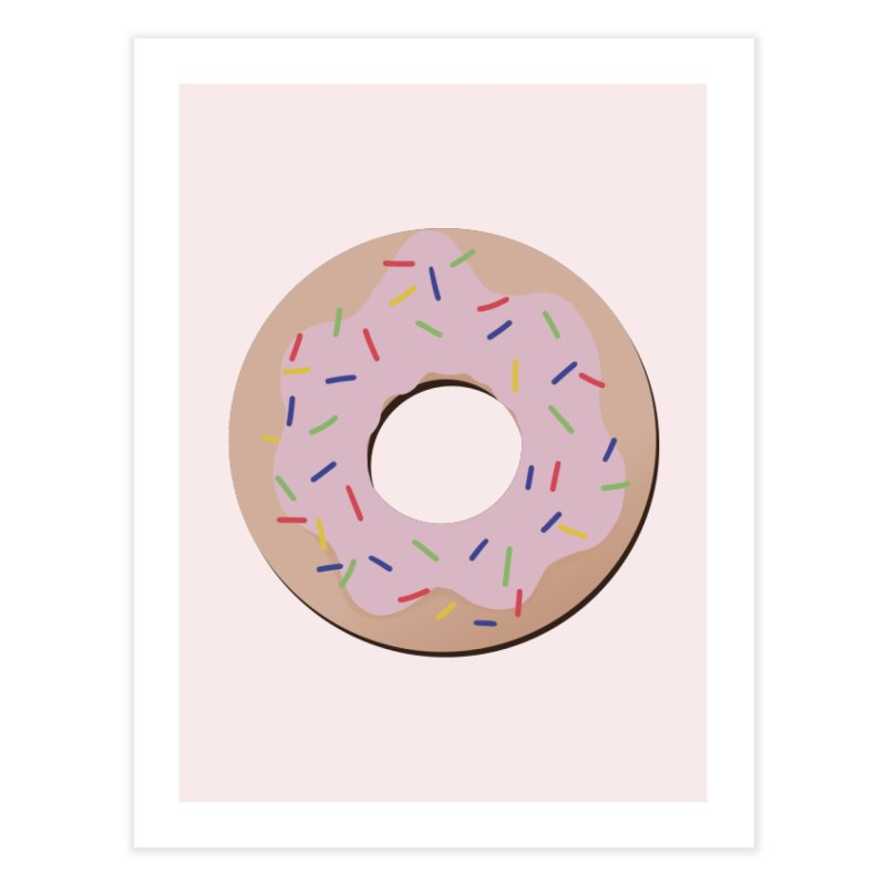 Donut Home Fine Art Print by Hello Siyi