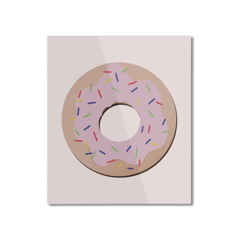 Donut Home Mounted Aluminum Print by Hello Siyi