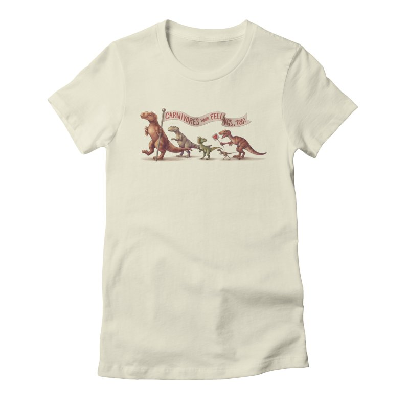 Carnivores Women's Fitted T-Shirt by SJdzyn's Artist Shop
