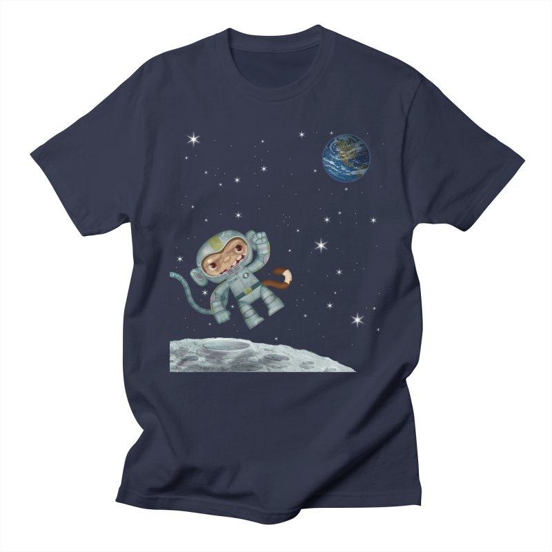 Space Monkey - Albert X Men's T-Shirt by SJdzyn's Artist Shop