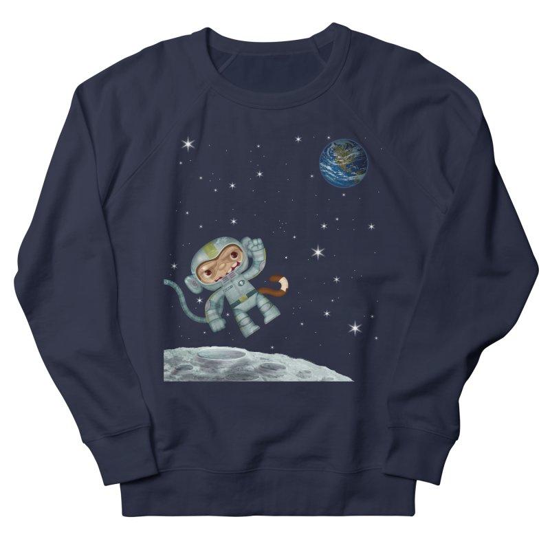 Space Monkey - Albert X Men's Sweatshirt by SJdzyn's Artist Shop