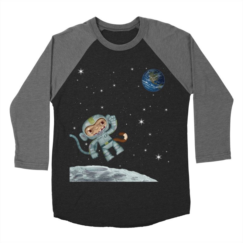Space Monkey - Albert X Men's Baseball Triblend T-Shirt by SJdzyn's Artist Shop