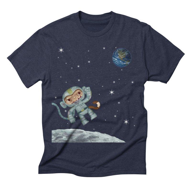 Space Monkey - Albert X Men's Triblend T-shirt by SJdzyn's Artist Shop