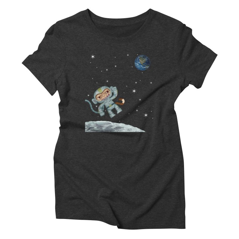 Space Monkey - Albert X Women's Triblend T-shirt by SJdzyn's Artist Shop