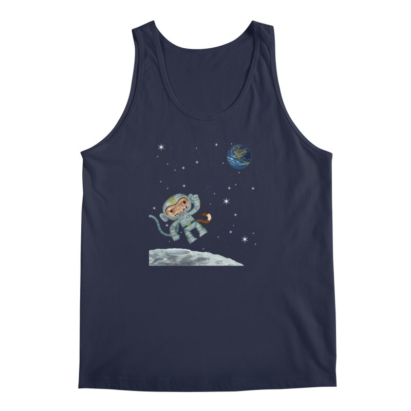 Space Monkey - Albert X Men's Tank by SJdzyn's Artist Shop