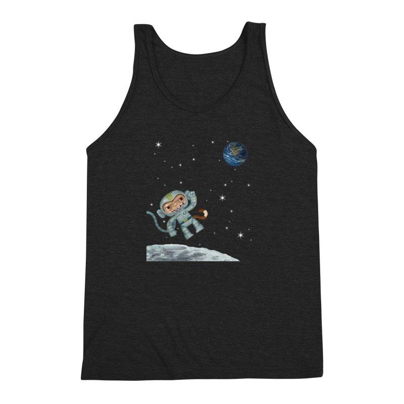 Space Monkey - Albert X Men's Triblend Tank by SJdzyn's Artist Shop