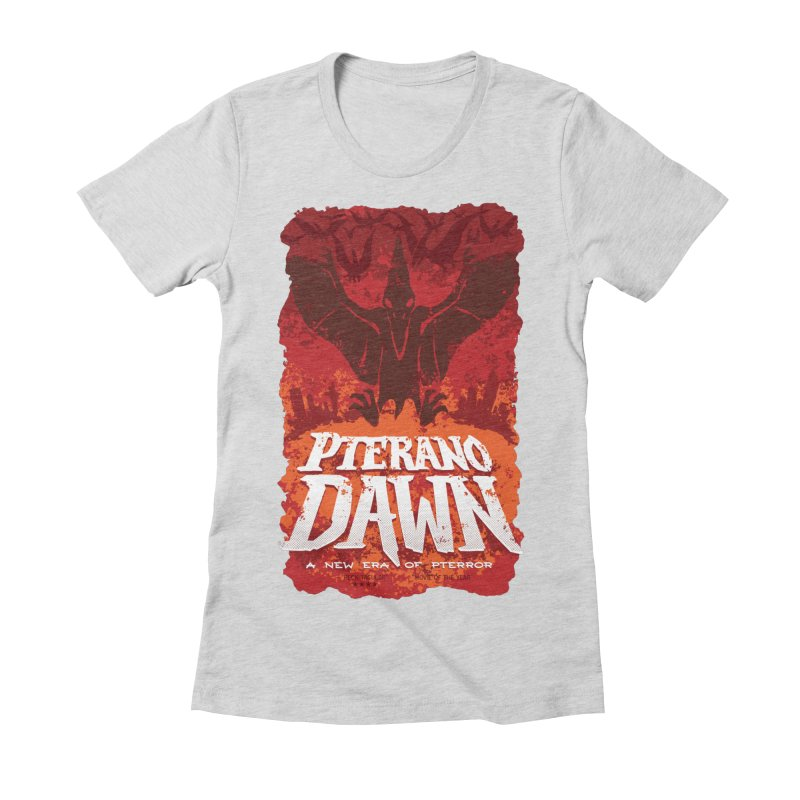 PteranoDawn Women's Fitted T-Shirt by SJdzyn's Artist Shop